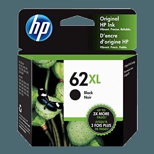 Cartucho de Tinta HP 62XL Negra Original
