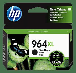 Cartucho original de tinta de alto rendimiento HP 964XL negro