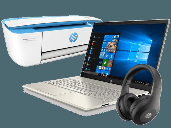 Laptop HP Pavilion 15-cw1082lm + Multifunctional Deskjet IA 3775 +  Auriculares Bluetooth HP 400
