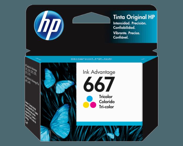 Cartucho de Tinta HP 667 Tricolor Ink Advantage Original
