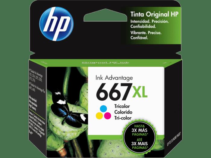 Cartucho de Tinta HP 667XL Tricolor Alto Rendimiento Advantage Original