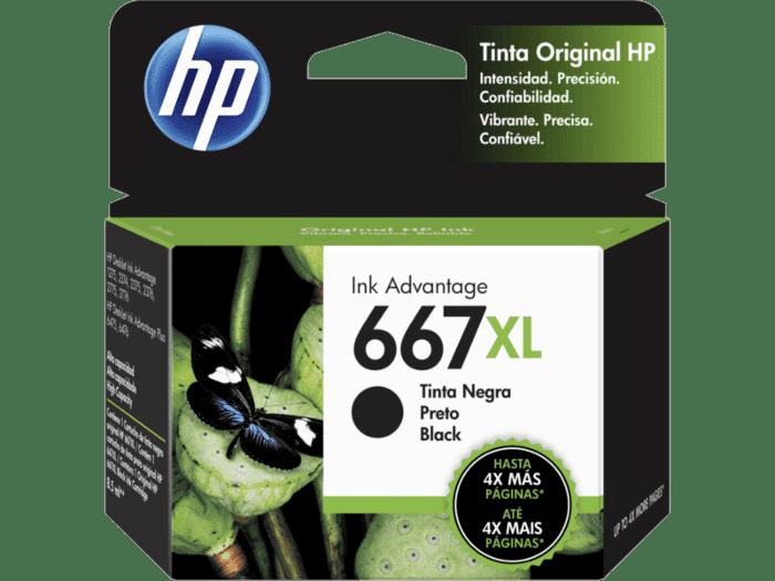 Cartucho de Tinta HP 667XL Negro Alto Rendimiento Advantage Original