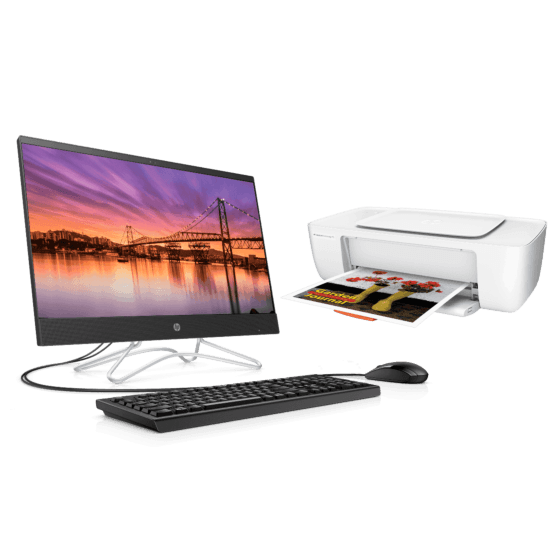 All in One HP  24-f000tla + Impresora HP DeskJet Ink Advantage 1115