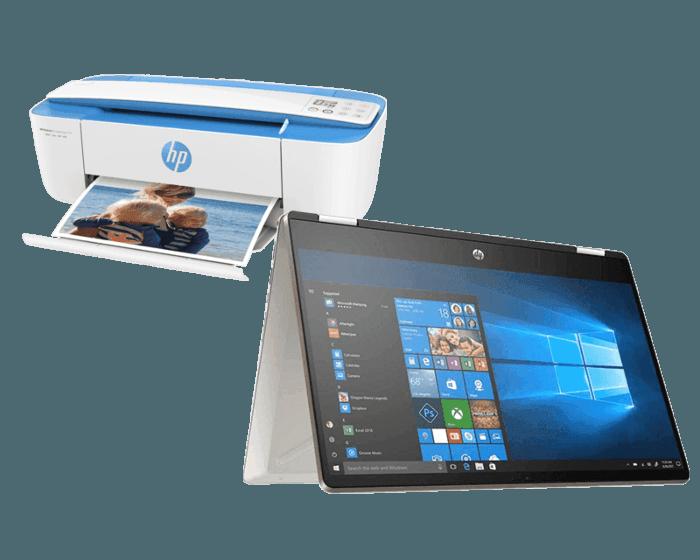 Laptop HP Pavilion x360 Convertible 14-dh0084lm + Impresora HP Deskjet Ink Advantage 3775