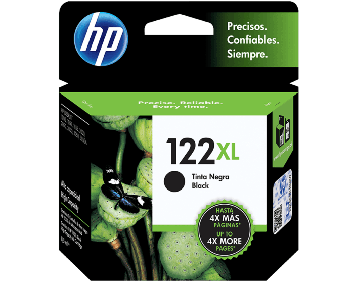 Cartucho de Tinta HP 122XL Negra Original