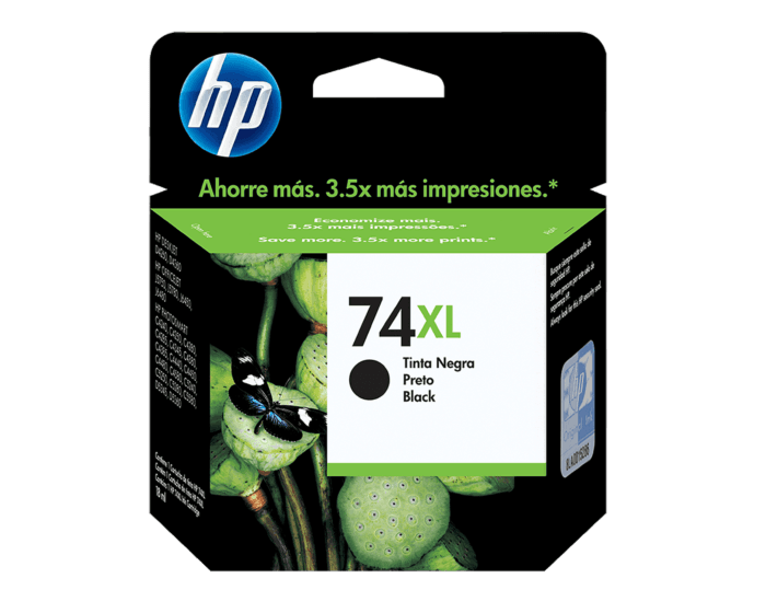 Cartucho de Tinta HP 74XL Negra Original