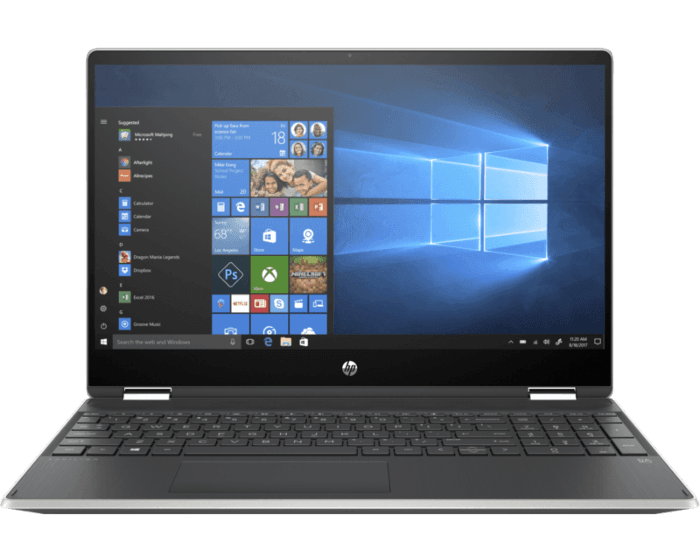 Laptop HP Pavilion x360 Convertible 15-dq1001la