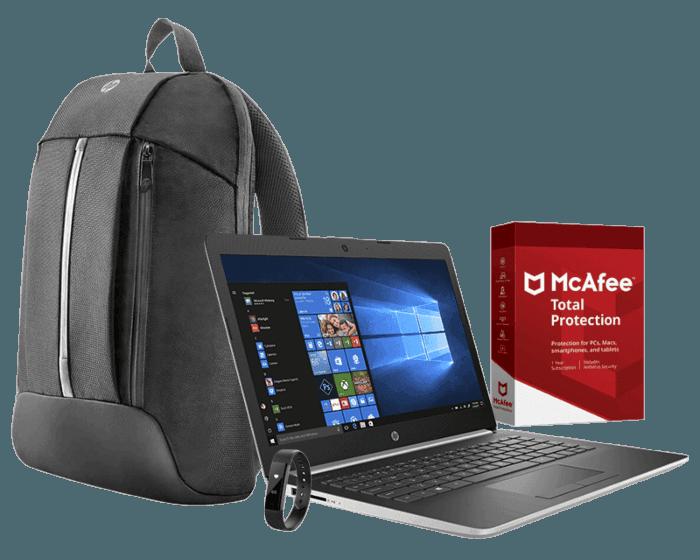 Laptop HP 14-cm0008la + LED backpack + McAfee + SmartFit