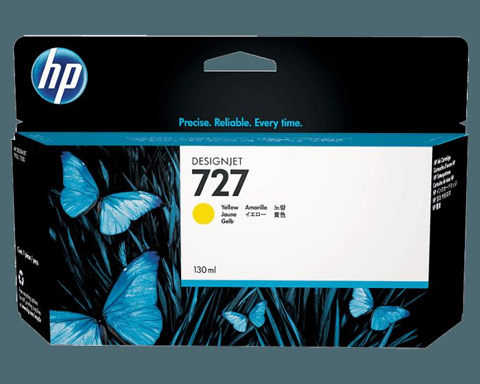 Cartucho de Tinta HP 727 Amarillo DesignJet Original