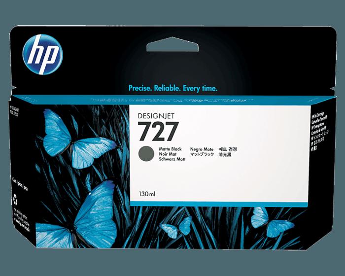Cartucho de Tinta HP 727 Negro Mate DesignJet Original