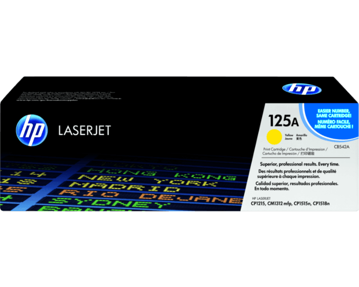 Cartucho de Tóner HP 125A Amarillo LaserJet Original
