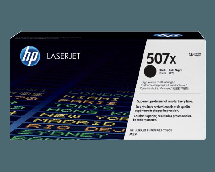 Cartucho de Tóner HP 507X Negro Alto Rendimiento LaserJet Original