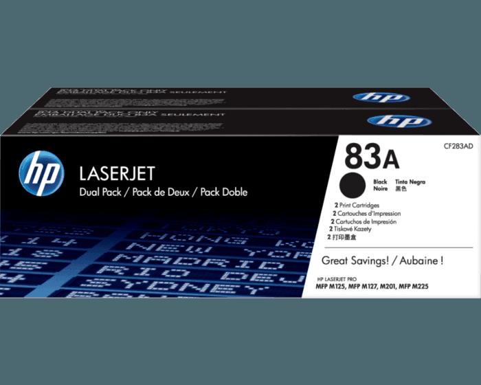 Pack de 2 Cartuchos de Tóner HP 83A Negro LaserJet Original
