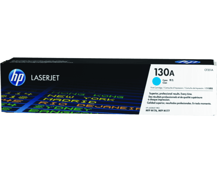 Cartucho de Tóner HP 130A Cian LaserJet Original
