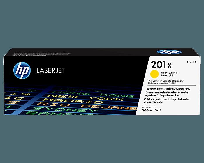 Cartucho de Tóner HP 201X Amarillo Alto Rendimiento LaserJet Original
