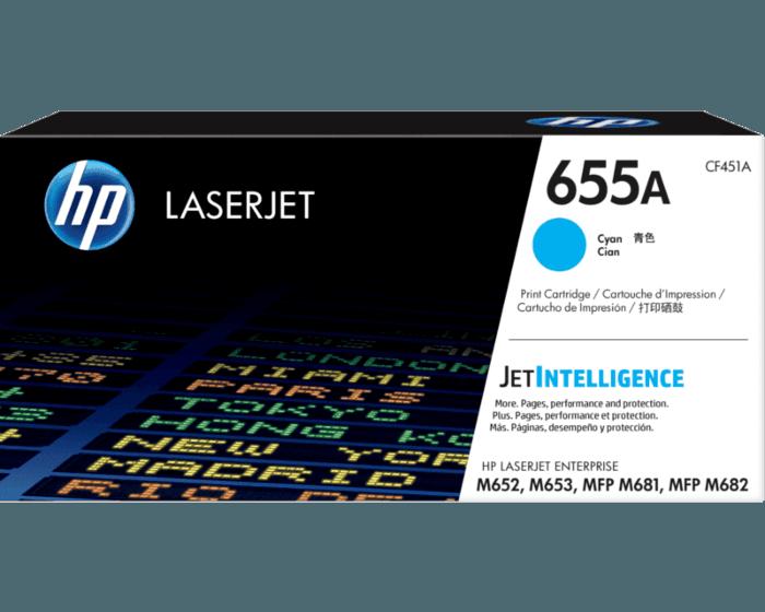 Cartucho de Tóner HP 655A Cian Alto Rendimiento LaserJet Original