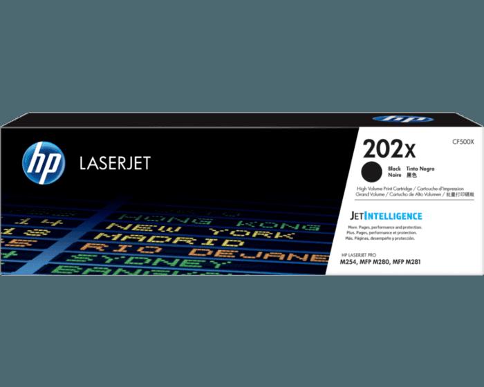 Cartucho de Tóner HP 202X Negro Alto Rendimiento LaserJet Original