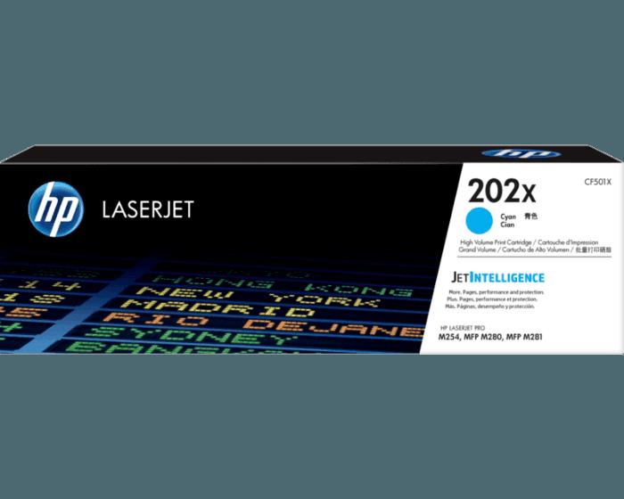 Cartucho de Tóner HP 202X Cian Alto Rendimiento LaserJet Original