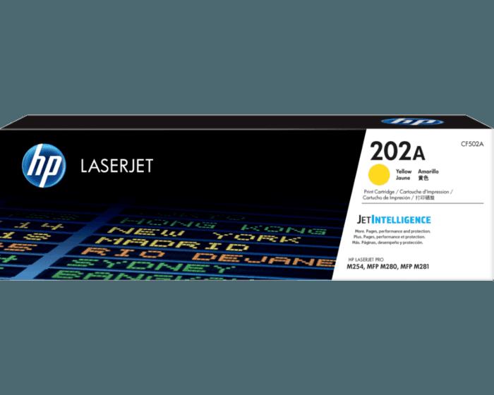 Cartucho de Tóner HP 202A Amarillo LaserJet Original