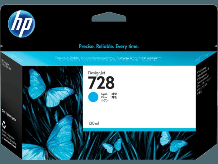 Cartucho de Tinta HP 728 Cian DesignJet Original