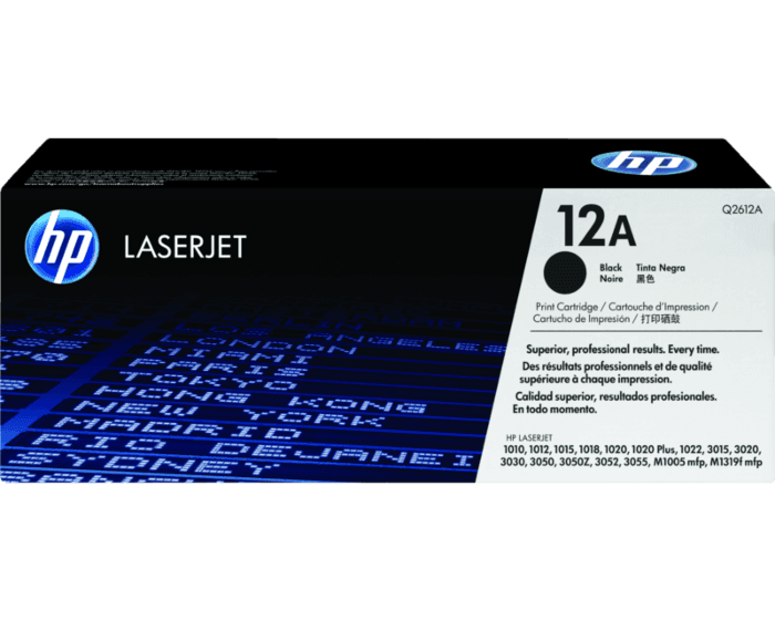 Cartucho de Tóner HP 12A Negro LaserJet Original