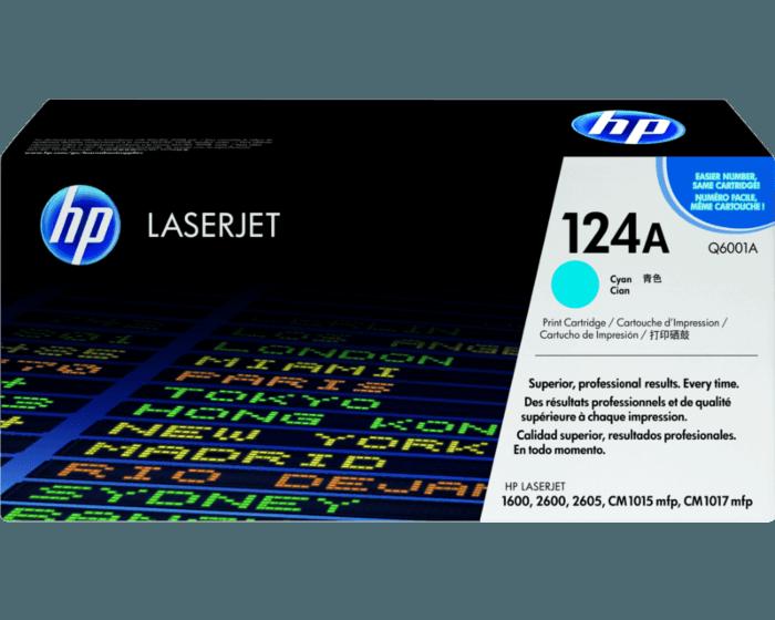 Cartucho de Tóner HP 124A Cian LaserJet Original