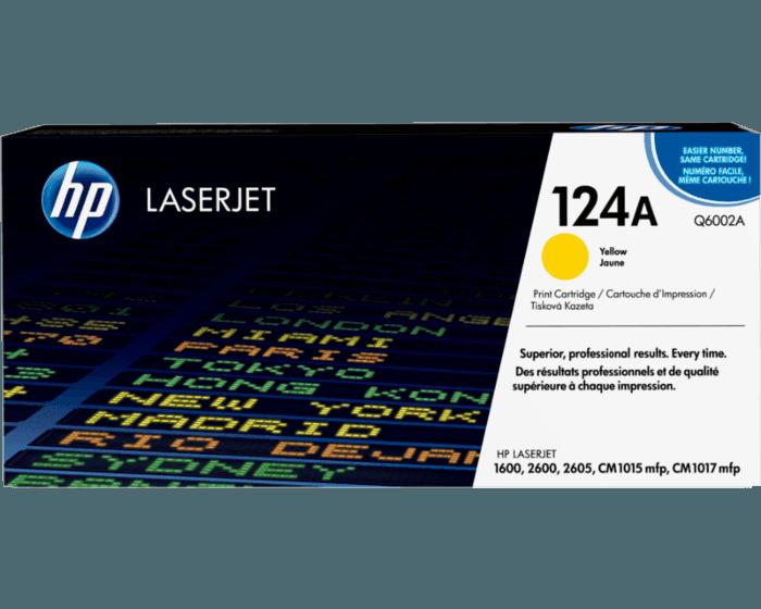 Cartucho de Tóner HP 124A Amarillo LaserJet Original