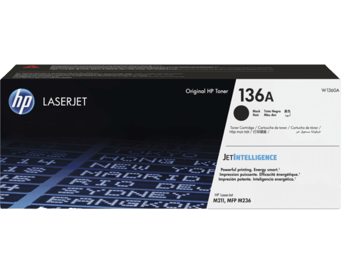 Cartucho de Tóner HP 136A Negro LaserJet Original