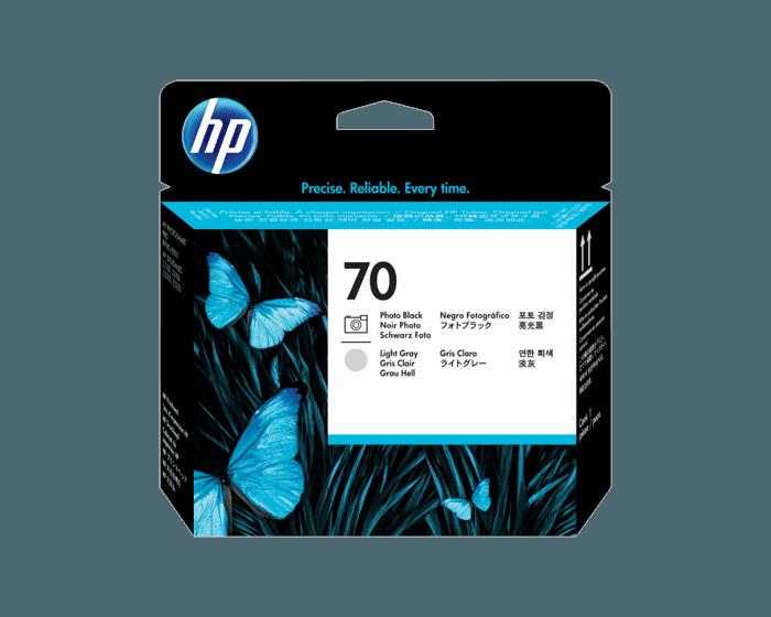 Cabezal de Impresión HP 70 Negro Fotográfico y Gris Claro DesignJet Original