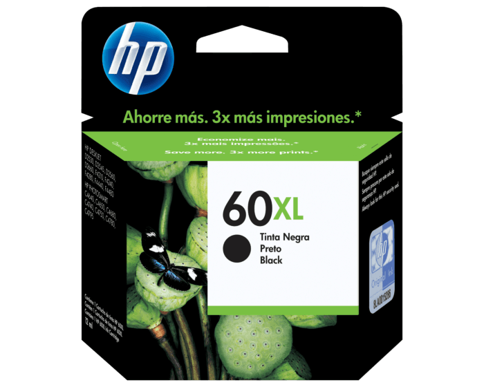 Cartucho de Tinta HP 60XL Negra Original