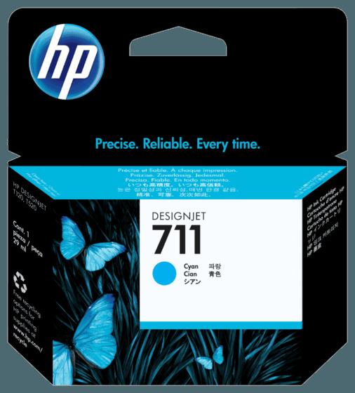 Cartucho de Tinta HP 711 Cian DesignJet Original de 29 ml
