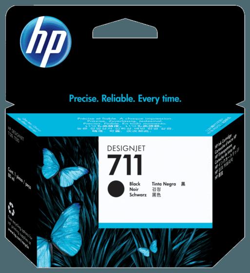 Cartucho de Tinta HP 711 Negra DesignJet Original de 80 ml