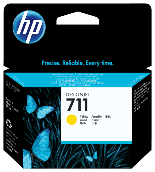 Cartucho de Tinta HP 711 Amarillo DesignJet Original de 29 ml