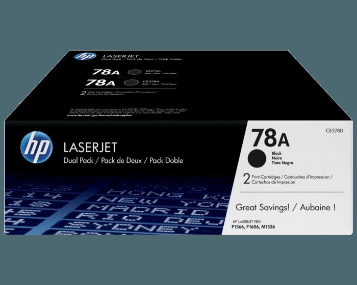 Pack de 2 Cartuchos de Tóner HP 78A Negro LaserJet Original