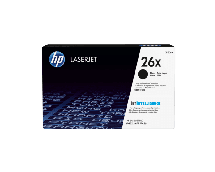 Cartucho de Tóner HP 26X Negro Alto Rendimiento LaserJet Original