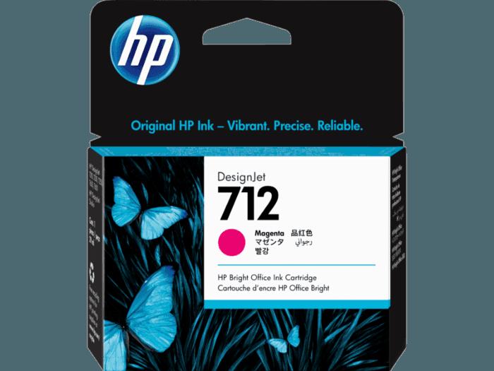 Cartucho de Tinta HP 712 Magenta DesignJet Original de 29 ml
