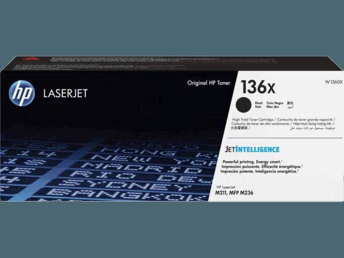 Cartucho de Tóner HP 136X Negro Alto Rendimiento LaserJet Original