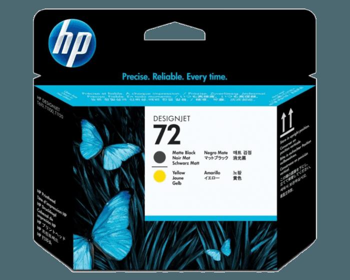 Cabezal de Impresión HP 72 Negro Mate y Amarillo Designjet Original