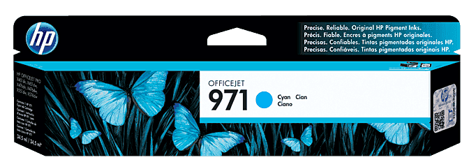 Cartucho de Tinta HP 971 Cian Original