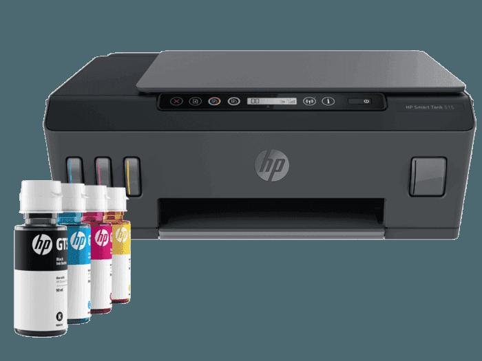 Impresora Multifuncional HP Smart Tank 515 + Tinta HP GT53 Negro + Tinta HP GT52 Amarilla + Tinta HP GT52 Magenta + Tinta HP GT52 Cian