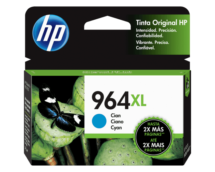Cartucho de Tinta HP 964XL Cian de Alto Rendimiento Original