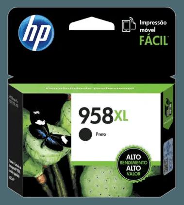 Cartucho de Tinta HP 958XL Negra de Alto Rendimiento Original