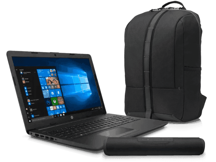 "Laptop HP 255 G7+ HP Backpack 15.6"" + Bocina Bluetooth"
