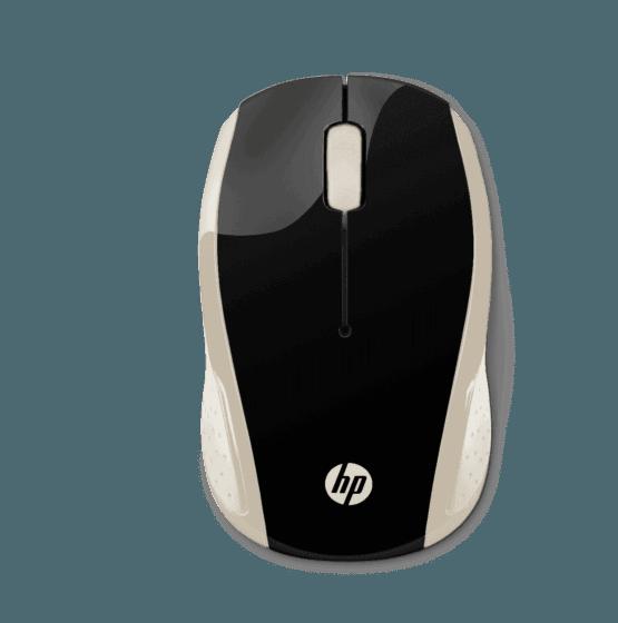 Mouse Inalámbrico HP 200 Dorado