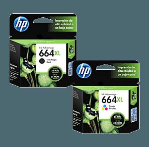 Pack de Cartuchos de Tinta HP 664XL Negro + Tricolor