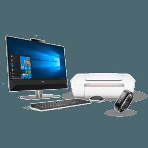 All in One HP Pavilion 24-xa003la + Impresora HP Deskjet Ink Advantage 1115