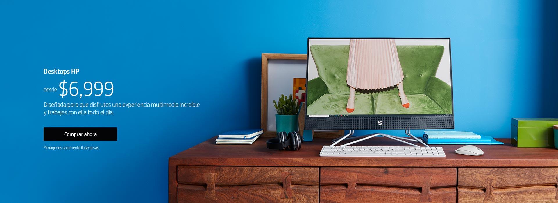 Desktop HP | Diseñado para que disfrutes una experiencia multimedia increíble y trabajes con ella todo el día