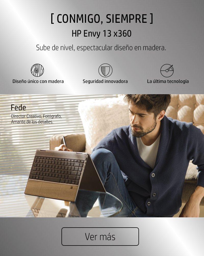 Conmigo siempre. HP Envy 13 x360 | Sube de nivel, espectacular diseño en madera