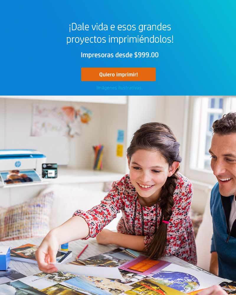 ¡Dale vida a esos grandes proyectos imprimiéndolos! Impresoras HP desde $999