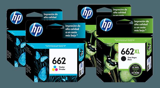 Familia de Cartuchos de Tinta HP 662 y HP 662XL